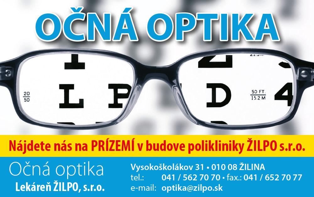 Očná optika zľavová karta
